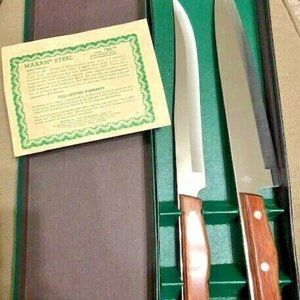 MAXAM 2-Piece Carving Chef Knife Set MCM 1960s